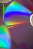 Конец-вверх компакт-диска с сияющей стороной вверх Стоковое Изображение