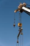 Конец-вверх крана на строительной площадке Стоковая Фотография