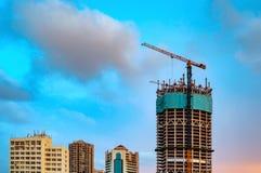 Конец-вверх крана строительной площадки стоковые изображения