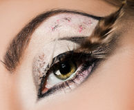 Конец-вверх красивейшего глаза Стоковое Изображение