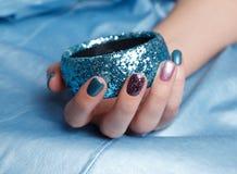 Конец-вверх красивых ногтей Стоковые Изображения