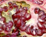 Конец-вверх красных зрелых семян гранатового дерева Стоковые Фотографии RF