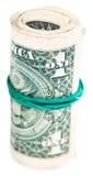 Конец-вверх крена банкнот доллара Стоковое Изображение RF