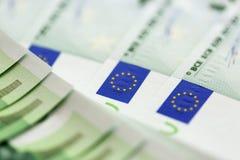 Конец-вверх 100 кредиток евро Стоковое Изображение