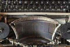 Конец-вверх машинки клавиатуры винтажный Антиквариаты в ретро фотографии стоковые изображения rf