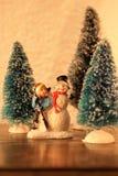 Конец-вверх миниатюр рождества стоковые изображения rf