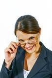 Конец-вверх молодой бизнес-леди в студии Стоковое Изображение
