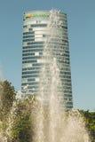 Конец-вверх на небоскребе компании Iberdrola стоковые изображения