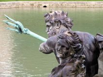 Конец вверх Нептуна на фонтане Нептуна Версаль Стоковое Фото