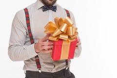 Конец-вверх Нового Года подарка на рождество или подарка Стоковое фото RF