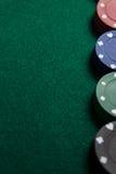 Конец-вверх обломоков казино стоковые изображения