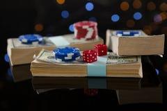 Конец-вверх обломоков на бумажных деньгах Стоковая Фотография RF