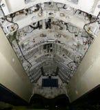 Конец-вверх отсека бомбы Avro Vulcan, огромного великобританского бомбардировщика периода холодной войны r стоковая фотография rf