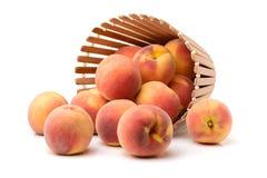 Конец-вверх очень вкусного красного и желтого персика Стоковые Фото