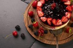 Конец-вверх очень вкусного пирога торта стоковые фотографии rf