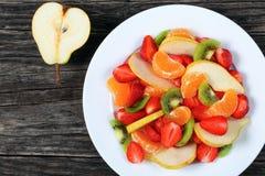 Конец-вверх очень вкусного салата лета плодоовощ Стоковое Изображение