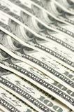 Конец-вверх долларовых банкнот Стоковое фото RF
