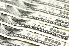 Конец-вверх долларовых банкнот Стоковые Фото