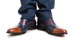 Конец-вверх первоклассных ботинок и брюк человека Стоковое Изображение RF