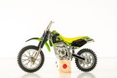 Конец-вверх перекрестного мотоцилк Стоковые Фото