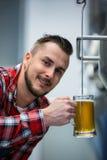 Конец-вверх пива испытания винодела Стоковое Изображение RF