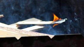 Конец вверх пламен огня лагеря и огня Стоковая Фотография