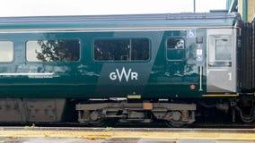 Конец вверх поезда Great Western железнодорожного на вокзале стоковые изображения