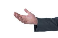 Конец-вверх показывать руки бизнесмена Стоковое Фото