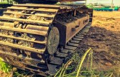 Конец вверх по машине backhoe Crawler тяжелой стоковая фотография rf
