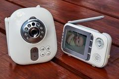 Конец вверх по монитору младенца для безопасности младенца Стоковые Изображения