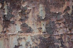 Конец вверх по ржавой текстуре металла, старой предпосылке металла стоковая фотография rf