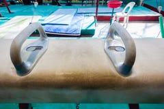 Конец-Вверх прибора лошади гимнастики стоковые фотографии rf