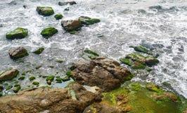 Конец-вверх прибоя моря Стоковые Изображения