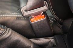 Конец-вверх пряжки ремня безопасности или ремня безопасности для управлять Стоковые Фотографии RF