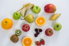 Конец-вверх различных типов плодоовощей Стоковое Изображение RF