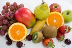 Конец-вверх различных типов плодоовощей Стоковое Фото