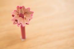 Конец-вверх розового карандаша цвета с брить карандаша Стоковые Фото