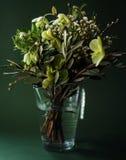Конец-вверх романтичного зеленого букета цветка стоковое фото