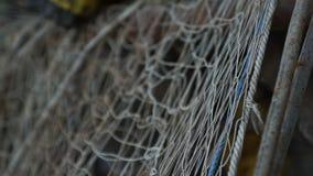 Конец-вверх рыболовной сети сток-видео