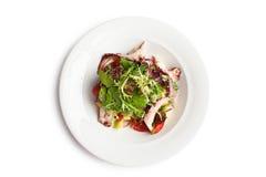Конец-вверх салата осьминога сверху Стоковое Изображение