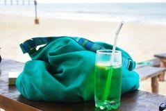 Конец вверх свежего питья лета, мяты с carbonated водой, льдом Стоковое фото RF
