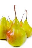 Конец-вверх свежих сияющих сладостных очень вкусных груш стоковое фото rf