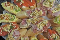 Конец-вверх свежо сделанных сэндвичей стоковое изображение