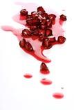 Конец-вверх семян гранатового дерева на белой предпосылке Стоковая Фотография RF