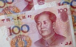 Конец-вверх снятый банкнот фарфора стоковое фото