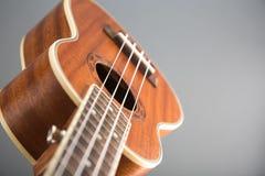 Конец-вверх снятый гитары гавайской гитары Стоковая Фотография