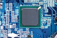 Конец-вверх снятый детали материнской платы компьютера Стоковое фото RF