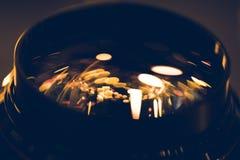 конец-вверх снятый золотых светов отражая Стоковая Фотография