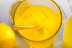 Конец-вверх снятый лимонада Стоковое Изображение RF