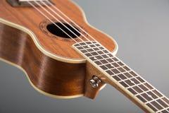 Конец-вверх снятый классической гитары гавайской гитары Стоковое Изображение RF